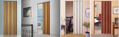 Portas Sanfonadas em PVC Detalhes